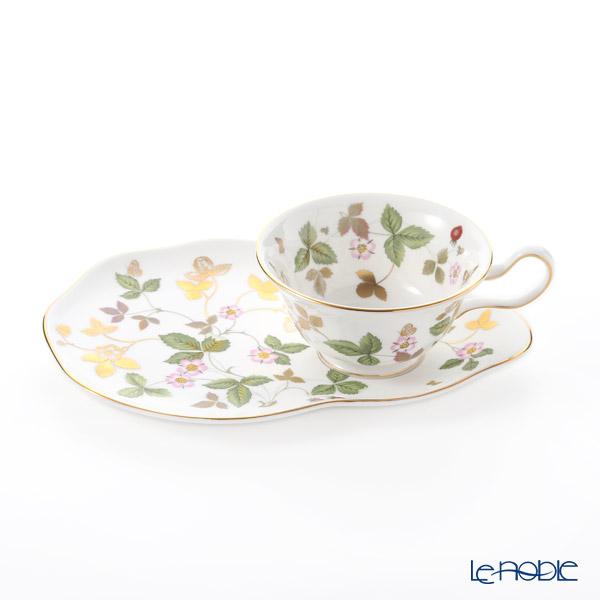 ウェッジウッド (Wedgwood) ワイルドストロベリー ゴールド ティータイムセット(ピオニー) ウエッジウッド 結婚祝い 内祝い お祝い ティーカップ おしゃれ かわいい 食器 ブランド