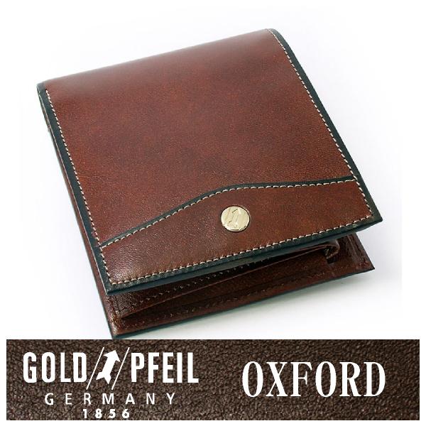 プレリー財布 GOLD PFEIL 「ゴールドファイル」 【スコッチ】オックスフォード レザー ドイツ 二つ折り財布(小銭入れあり) 牛革 本革 ウォレット【楽ギフ_包装選択】