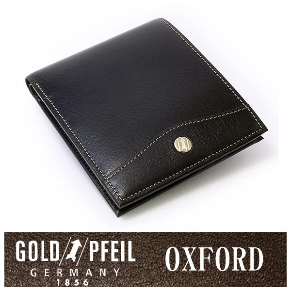 プレリー財布 GOLD PFEIL 「ゴールドファイル」 【ブラック】オックスフォード レザー ドイツ 二つ折り財布(小銭入れなし) 牛革 本革 ウォレット【楽ギフ_包装選択】