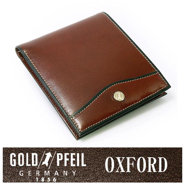 【送料無料】【スコッチ】オックスフォード レザー ドイツ 二つ折り財布(小銭入れなし) 「ゴールドファイル」 牛革 本革 ウォレット【楽ギフ_包装選択】