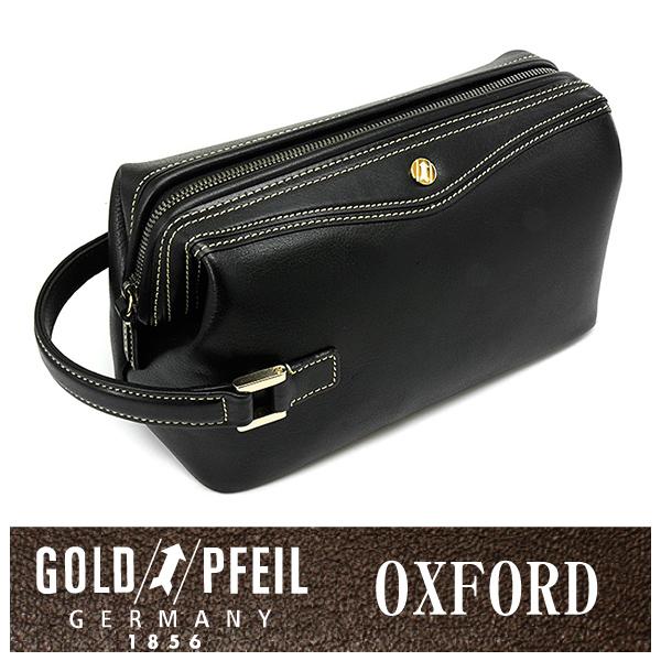 GOLD PFEIL 「ゴールドファイル」 オックスフォード セカンドバッグ 901202【ブラック】【楽ギフ_包装選択】