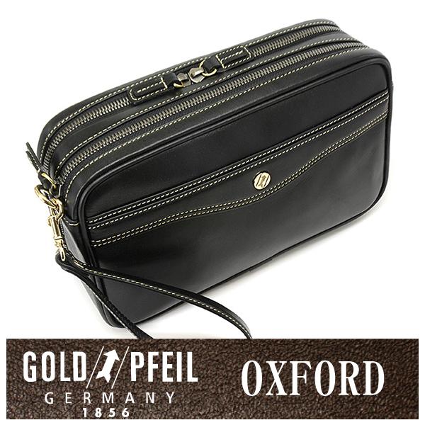 GOLD PFEIL 「ゴールドファイル」 オックスフォード セカンドバッグ 901203【ブラック】【楽ギフ_包装選択】
