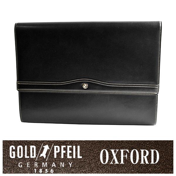 GOLD PFEIL 「ゴールドファイル」 オックスフォード クラッチバッグ 901204【ブラック】【楽ギフ_包装選択】