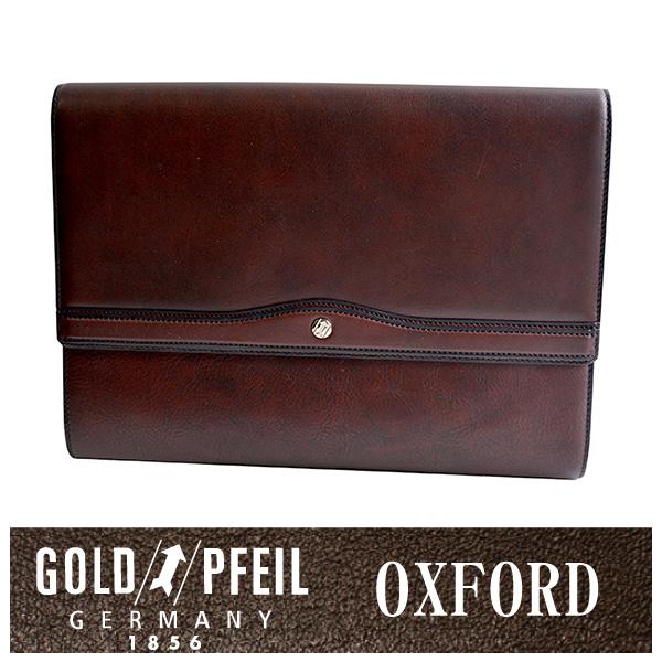【送料無料】オックスフォード クラッチバッグ 「ゴールドファイル」 901204【バーガンディ】【楽ギフ_包装選択】
