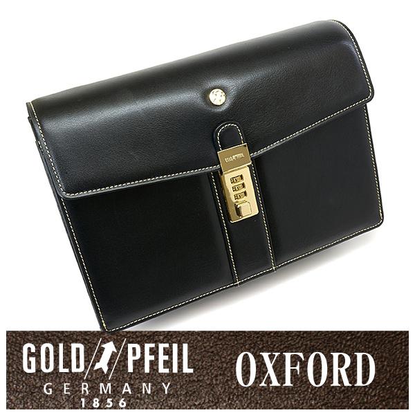 GOLD PFEIL 「ゴールドファイル」 オックスフォード セカンドバッグ 901205【ブラック】【楽ギフ_包装選択】