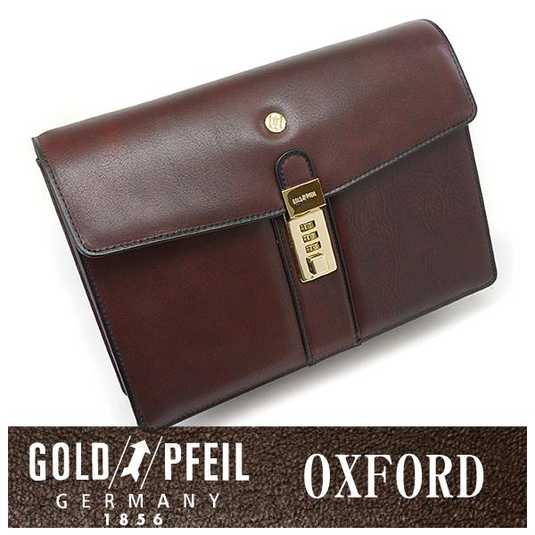 GOLD PFEIL 「ゴールドファイル」 オックスフォード セカンドバッグ 901205【バーガンディ】【楽ギフ_包装選択】