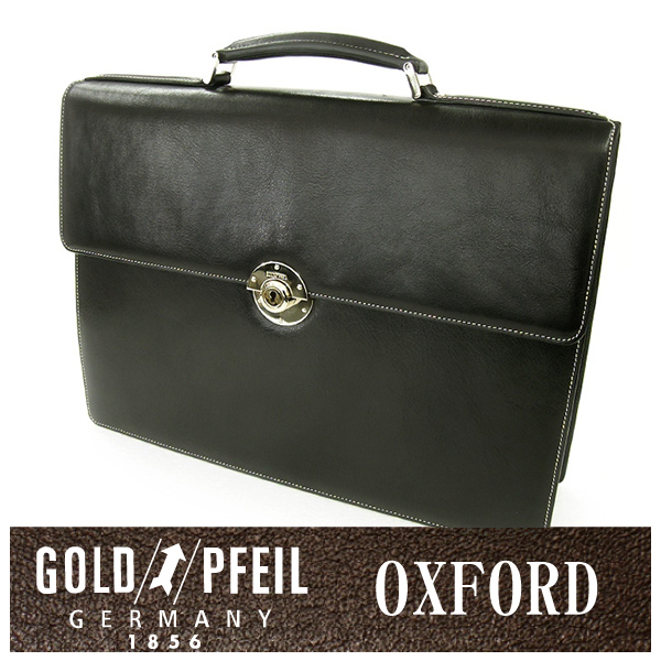 GOLD PFEIL 「ゴールドファイル」 オックスフォード ブリーフケース 901503【ブラック】【楽ギフ_包装選択】