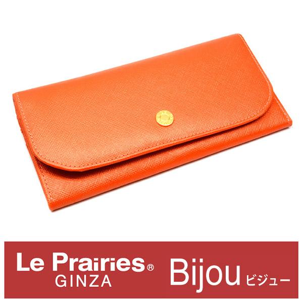 c04e099aa1ec Bijue(ビジュー)長財布薄型「ル?プレリー」NPL1195【オレンジ】 ...