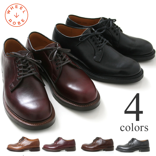WHEEL ROBE ウィールローブ ウィルローブ PLAIN TOE BLUCHER プレーントゥオックスフォード 革靴 メンズ ビジネス カジュアル 15066