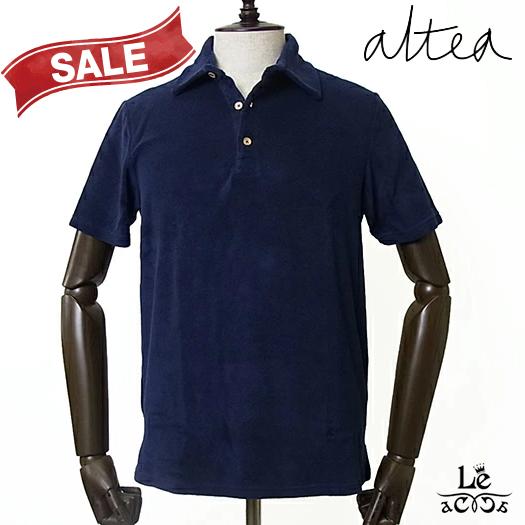 【New Arrival】Altea アルテア メンズ パイル ポロシャツ 半袖 ネイビー 紺 無地 春夏モデル 国内正規品 16500【送料無料】