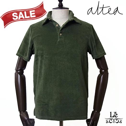 【New Arrival】Altea アルテア メンズ パイル ポロシャツ 半袖 オリーブ グリーン 無地 春夏モデル 国内正規品 16500【送料無料】