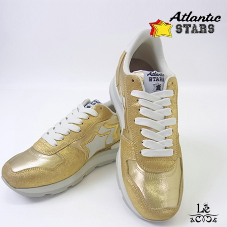 Atlantic STARS アトランティックスターズ ANTARES アンタレス スニーカー COO-86B ゴールド 金 メンズ ラバーソール イタリア製 国内正規品【送料無料】