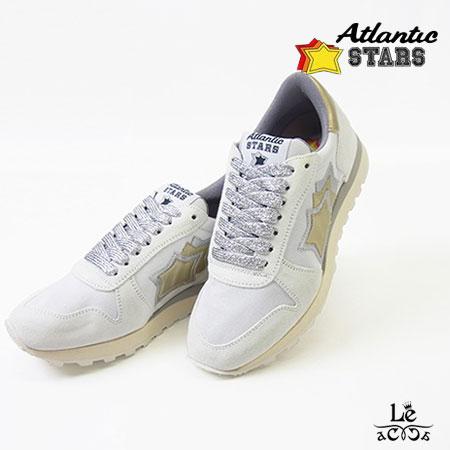 【国内正規品】Atlantic STARS/アトランティックスターズ/ALHENA/アレナ/スニーカー/BB-NY-LPGB/ホワイト×ゴールド×シルバー/レディース/レザー/イタリア製/国内正規品【送料無料】