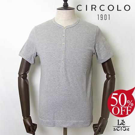 CIRCOLO 1901 1901 半袖Tシャツ グレー cn1816-fumo チルコロ 【スーパーセール開催!】