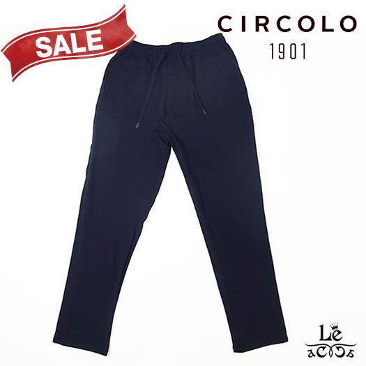 【New Arrival】CIRCOLO 1901 チルコロ ジャージー ジョギング パンツ ACU218501 ウエストゴム 無地 ネイビー 紺 メンズ 春夏モデル 国内正規品 29160【送料無料】