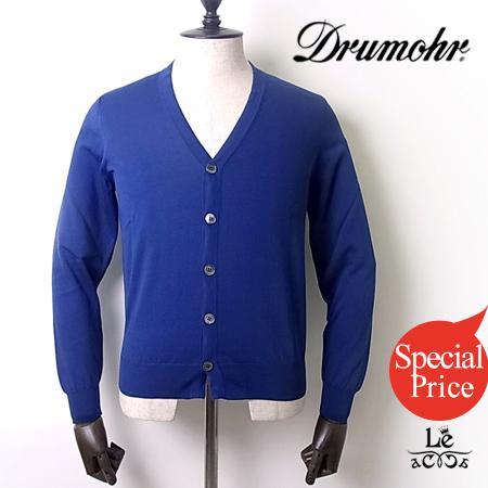 【Special price】Drumohr/ドゥルモア/ドルモア/30ゲージコットンニットカーディガン/Vネック/ネイビー/紺/メンズ/イタリア製/春夏モデル/31320【サマーニット】