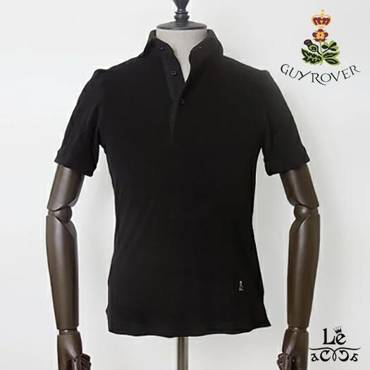 【スーパーセール開催!】 Guy Rover / 半袖ポロシャツ パイル地ポロ ギローバー 台衿付き pc234-581501-04 ホリゾンタルワイドカラー カーキ カッタウェイ