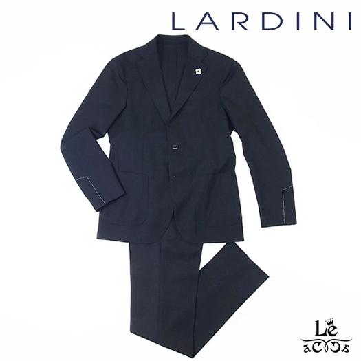 【30%OFF】LARDINI ラルディーニ パッカブル トラベラー シングル スーツ EASY WEAR 無地 ネイビー 紺 イタリア製 春夏モデル 国内正規品 145200【送料無料】
