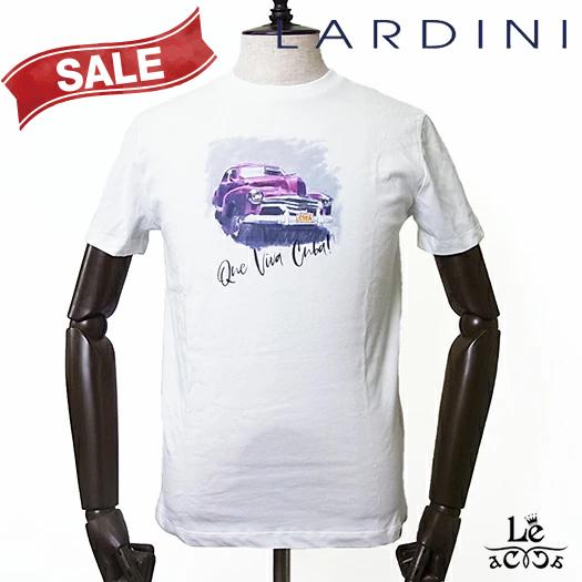 【30%OFF】LARDINI ラルディーニ メンズ Tシャツ Que Viva Cuba プリント カットソー クルーネック 半袖 イタリア製 春夏モデル 国内正規品 18700【送料無料】