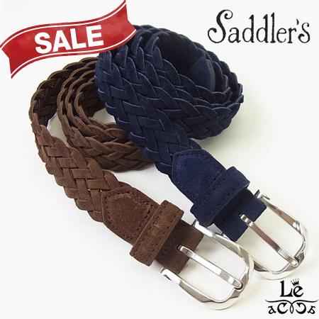【New Arrival】Saddler's/サドラーズ/スウェードレーヨンメッシュベルト/スエード/牛革/G332/ブラウン/こげ茶/ネイビー/紺/イタリア製/11880