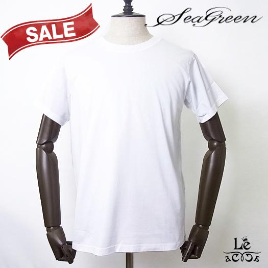 Seagreen シーグリーン クルーネックカットソー MSG19A8078 半袖 コットン Tシャツ 無地 ホワイト 白 メンズ 日本製 秋冬モデル 国内正規品 10548
