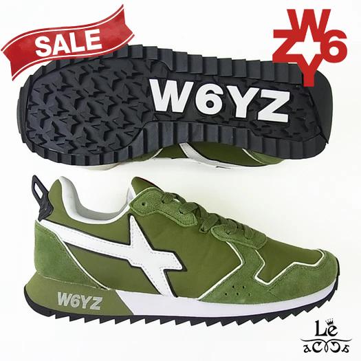 W6YZ ウィズ WIZZ JET-M スニーカー オリーブ グリーン メンズ イタリア ブランド 国内正規品 27500【送料無料】