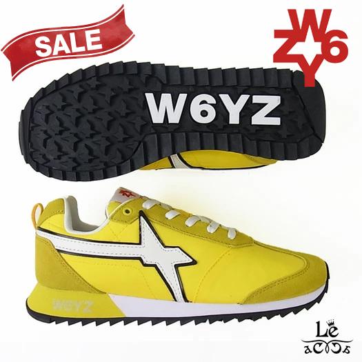 W6YZ ウィズ WIZZ FLY-M スニーカー イエロー メンズ イタリア ブランド 国内正規品 27500【送料無料】