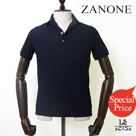 【Special Price】ZANONE ザノーネ 4Bアイスコットンポロシャツ 812063 Z0380 無地 ネイビー 紺 イタリア製 メンズ 春夏モデル 国内正規品 26460【送料無料】