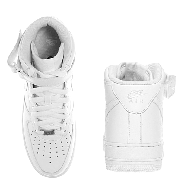Nike air force 1 mid NIKE AIR FORCE 1 MID 06 GS nike[314195 113]Lady's youth sneakers WHITE white●