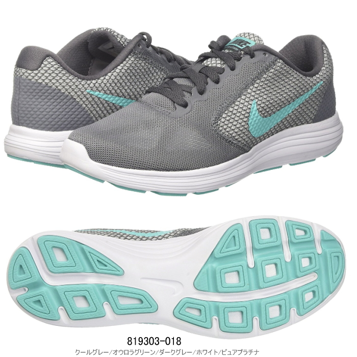 Nike Lady's sneakers women revolution 3 running shoes NIKE WMNS LEVOLUTION3  819,303-018○