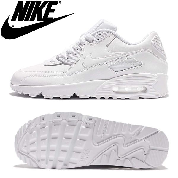 Nike Air Max 90 Leather GS Schuhe weiß im WeAre Shop