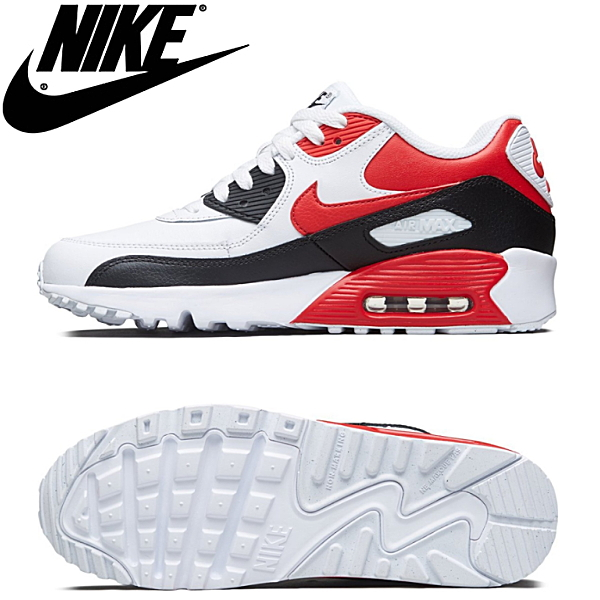 more photos 9b9dc cf102 Kie Ney AMAX 90 NIKE AIR MAX 90 LTHR GS[833412-107]Lady's youth sneakers  nike●