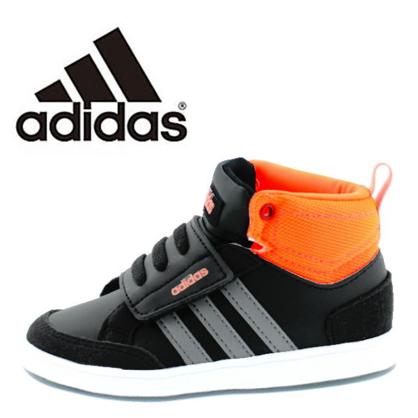best wholesaler speical offer release info on ●Child child shoes mid cut Velcro of the adidas Adidas baby kids sneakers  NEOHOOPS CMF MID INF AW5129 (neo-hoops CMF MID INF) boy woman