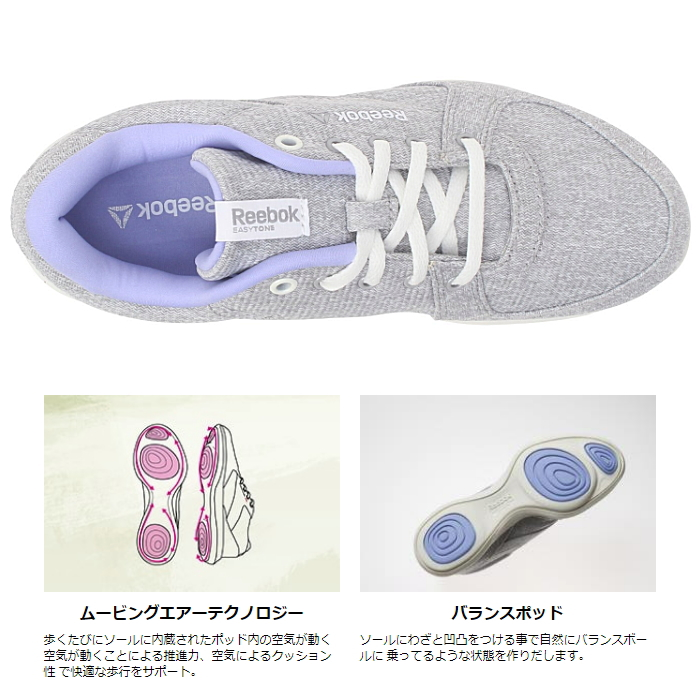 58178fd474ced9 Select shop Lab of shoes  Reebok Lady s sneakers easy tone 2.0 ...