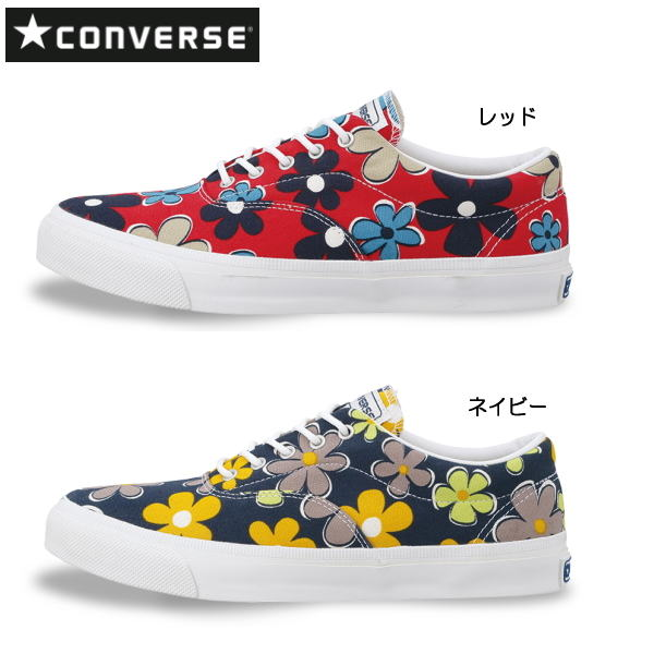 Converse skid grip nostalgic flower Lady s men sneakers CONVERSE SKIDGRIP  RETROFLOWER Lady s shoes men shoes sneakers floral design deck shoes○ 26b35cf19