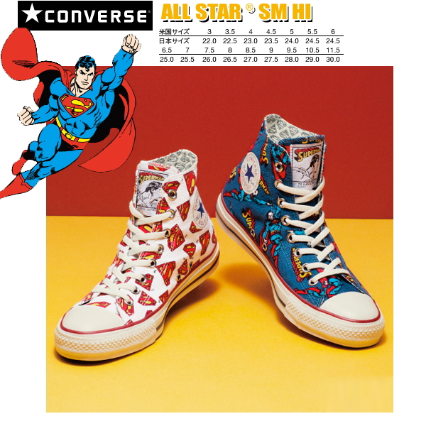 a874c312bb47 Converse all-stars superman higher frequency elimination CONVERSE ALL STAR  SM HI DC Comics collaboration men gap Dis sneakers men s ladies sneaker ○
