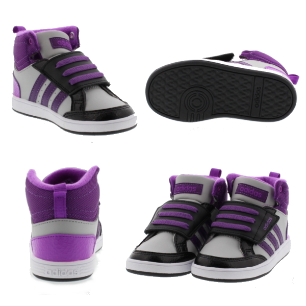 d8dbc6ea adidas adidas baby kids NEOHOOPS CMF sneaker MID INF AW5125 (neo hoops CMF  MID INF) boy girl kid shoes mid cut Velcro-