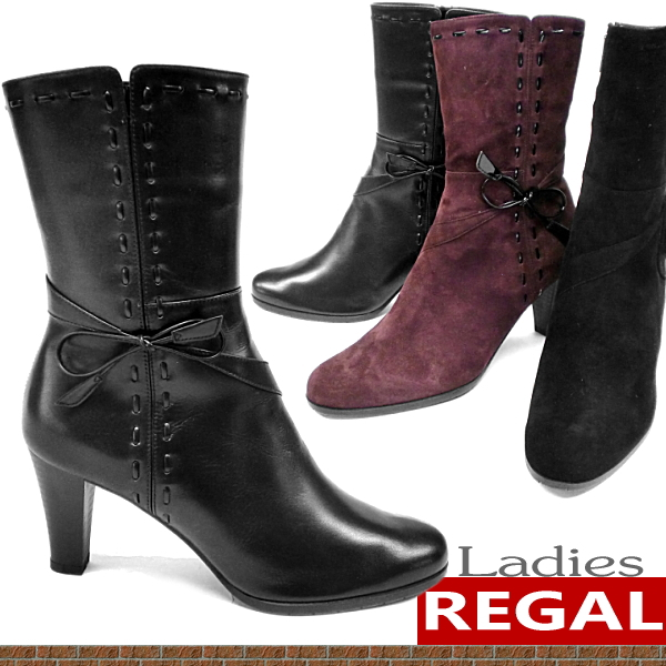 Regal ladies boots REGAL leather boots women's short boots-[fs3gm]