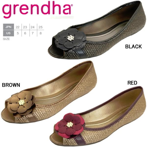 42359b7f901f Glenda rubber shoes ladies flower corsage pumps Grendha 16142 ladies rubber  pumps ladies pumps-