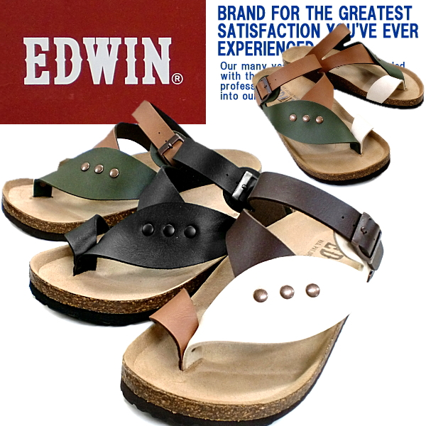 9f6e1bf642fa Edwin Sandals men s thong Sandals EDWIN EW9164 casual sandal for men men s  sandal-