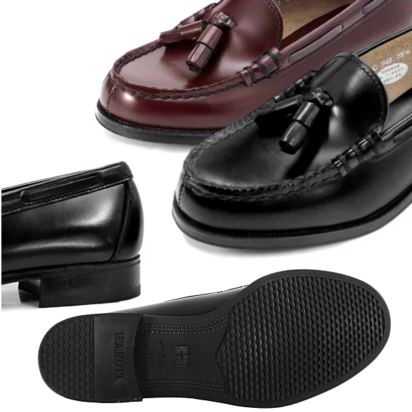 To halt women's genuine leather tassel loafers 2E HARUTA 303 commuting halt loafer tassels student shoes ○ halt HARUTA