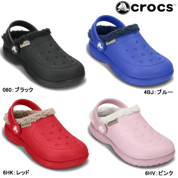 c4ba8845e0f0b Crocs clog Sandals winter children's crocs ColorLite lined clog kids 16196  Cola Light Linda clog kids ...