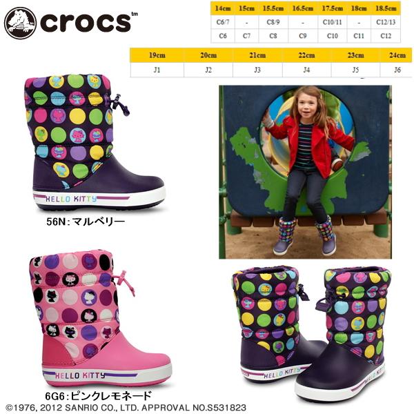 18dab2e3f Crocs kids boots boots Kitty crocs Gast beats Hello Kitty colorful circles  crocs gust boot Hello Kitty colorful circle 12377 lightweight kids shoes  girls ...