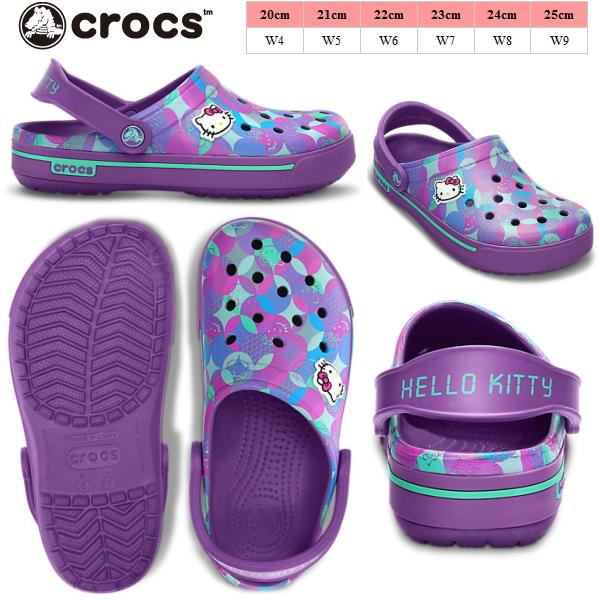 49ba08499624e Clocks clock band Hello Kitty crocs crocband 2.5 Hello Kitty clog w 12393  clog women s women s Sandals Women s lightweight black I giggle ladies  sandal-