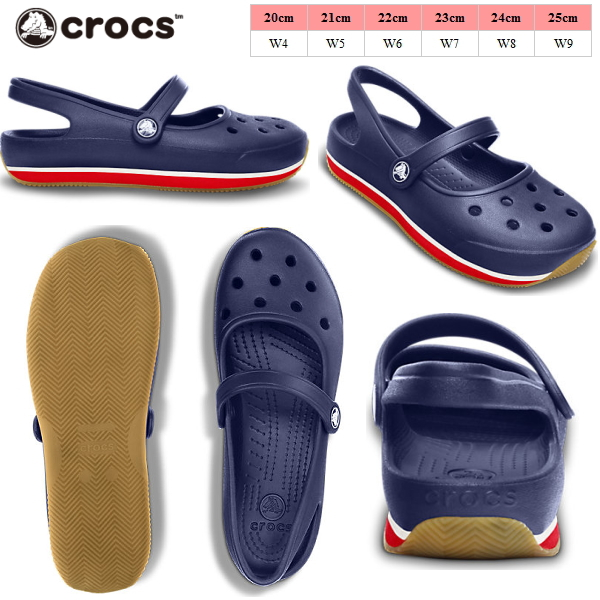 9aae6a964 W 14134 jane women s crocs and mary retro Mary Jane Crocs back strap  women s retro shoes-pumps-