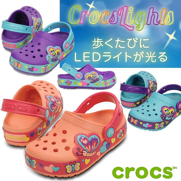 74a8bc1639cb9 Glowing Crocs Sandals Crocs Liz Butterfly yogui crocslights butterfly clog  PS 15685 kids Sandals kids children's ...