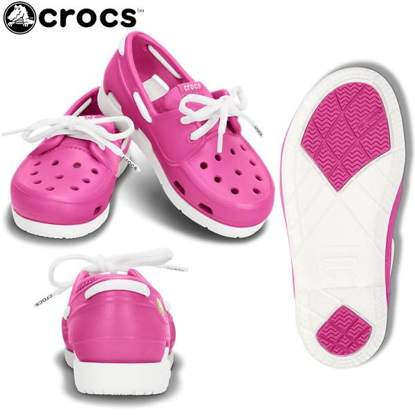 Crocs 孩子婴儿 crocs 沙滩线船鞋花边 PS 15915 海滩线船鞋儿童鞋男童女童凉鞋鞋甲板鞋孩子儿童 crog 凉鞋-