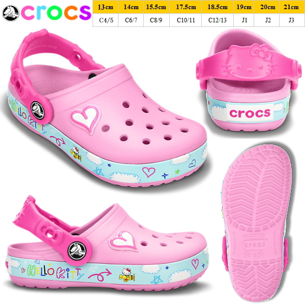 916969c8edb21d Crocs kids baby clock band Hello Kitty plain clog crocs Crocband Hello  Kitty Plane Clog 16088 kids shoes girls sandal clog kids crog sandal-