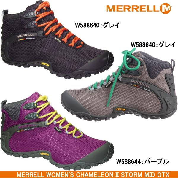 Merrell trekking shoes Womens MERRELL WOMENI S CHAMELEON II STORM MID GTX  Merrell Chameleon 2 storm Gore-Tex sneakers shoe GORE-TEX Gore-Tex climbing  treks ... b41e37b9ca