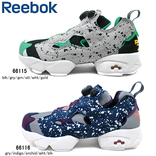 (Reebok classic) Reebok CLASSIC sneakers. Speckle packs in the enduring classic  Reebok INSTAPUMP FURY seasonal models. A pair of bold colour scheme ...